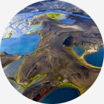 Luftbild isländisches Hochland