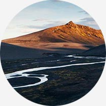 Berge im Hochland Islands