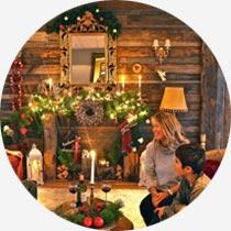 Weihnachten am Kamin