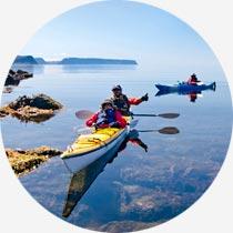 Islandreisen Kayaks in den Westfjorden