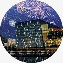 Reise-Ideen Feuerwerk Reykjavik