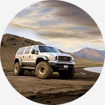 Super Jeep im isländischen Hochland
