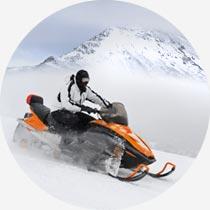 Snowmobil auf isländischem Gletscher