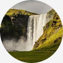 Island Reykjavík-Urlaub Skogafoss
