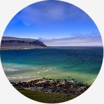 Ansicht der Westfjorde Islands
