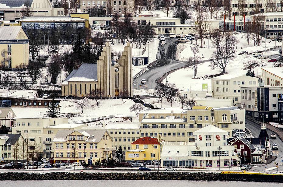 Akureyri im Winter
