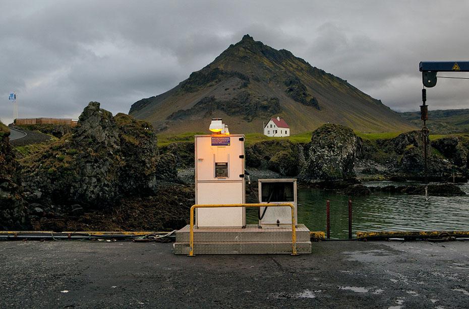 Bootstankstelle im Hafen von Arnarstapi