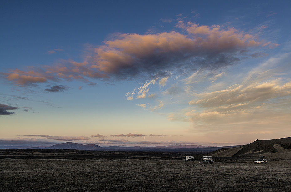 Abendhimmel an der Askja im Vatnajökull-Nationalpark