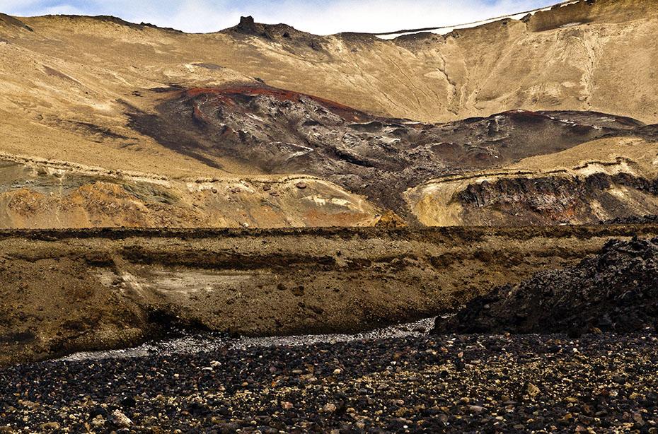 Eruptionsspuren an der Askja
