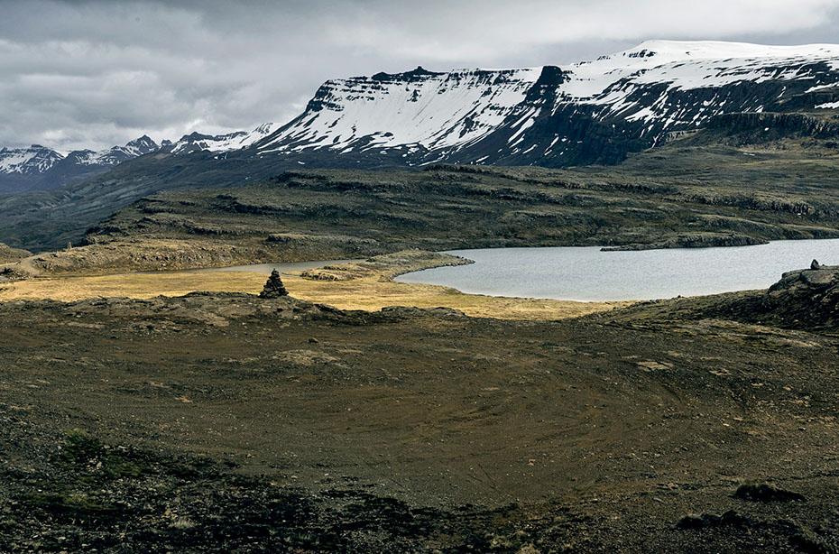Hochebene über dem Tal Breiddalur