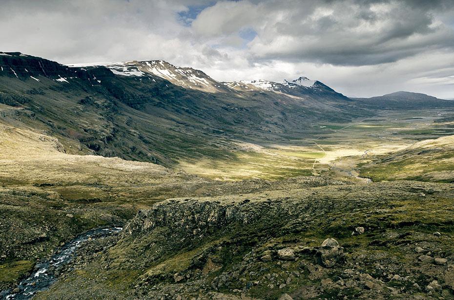 Blick in das Tal Breiddalur