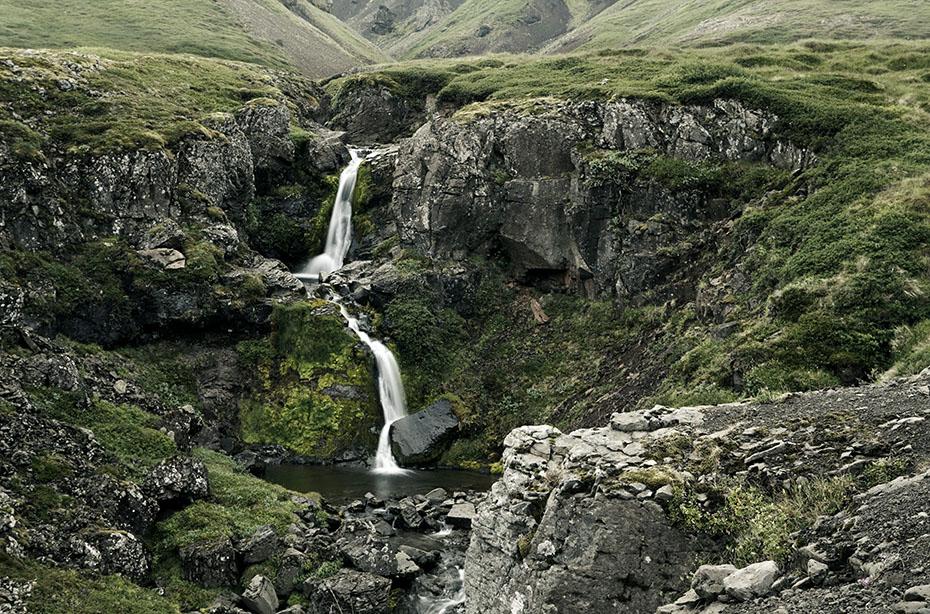 Wasserfall bei Brjánslækur