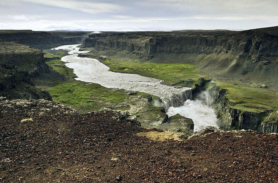 Der Hafragilsfoss in der Nähe des Dettifoss