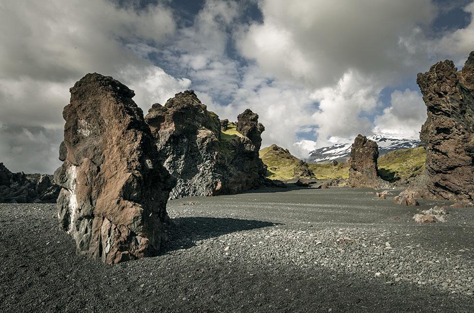 Blick vom Djúpalónssandur zum Snæfellsjökull