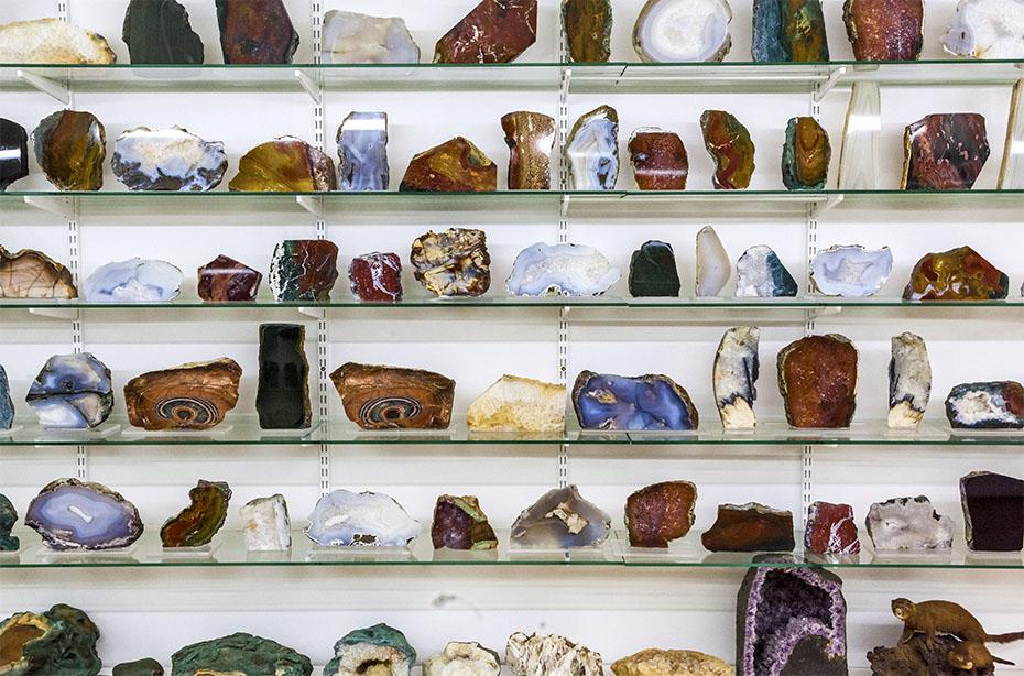 Mineralien-Sammlung in Djupivogur