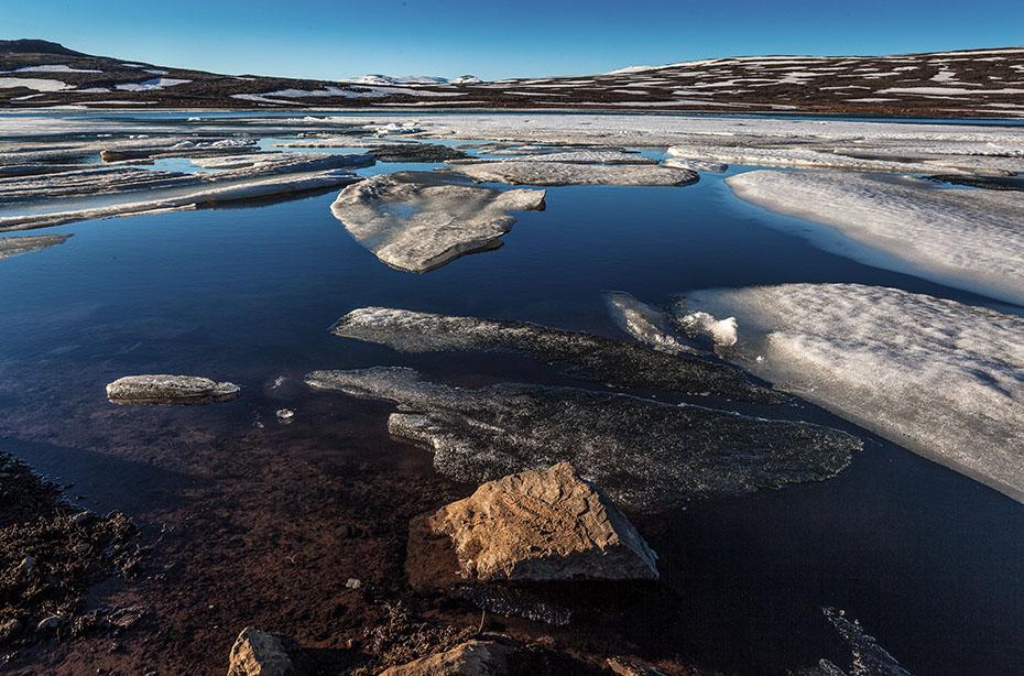 Eissee am Pass zwischen Seydisfjördur und Egilsstaðir