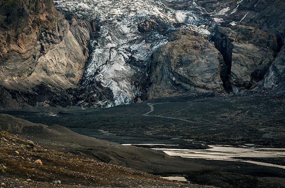 Gletscherzunge Gígjökull des Eyjafjallajökull