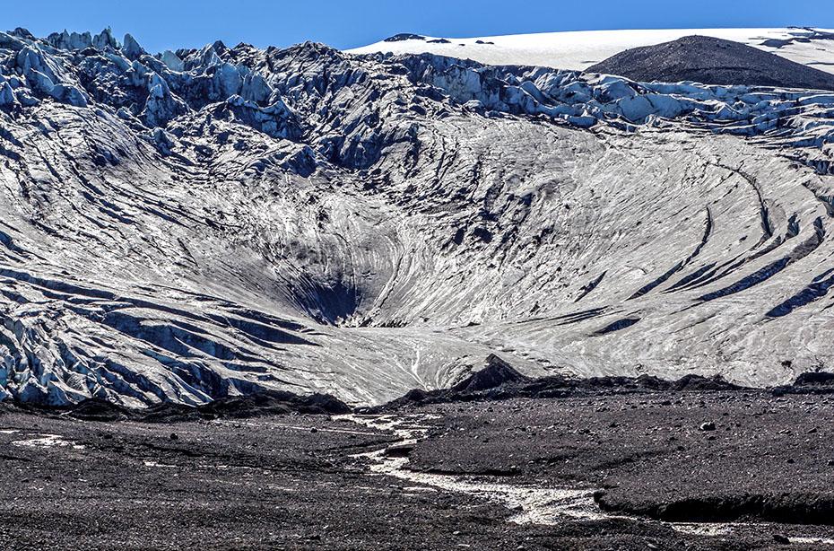 Kante des Vatnajökull-Gletschers