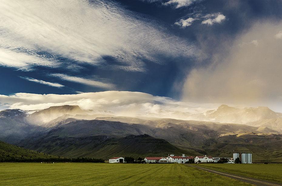 Farm unter dem Eyjafjallajökull