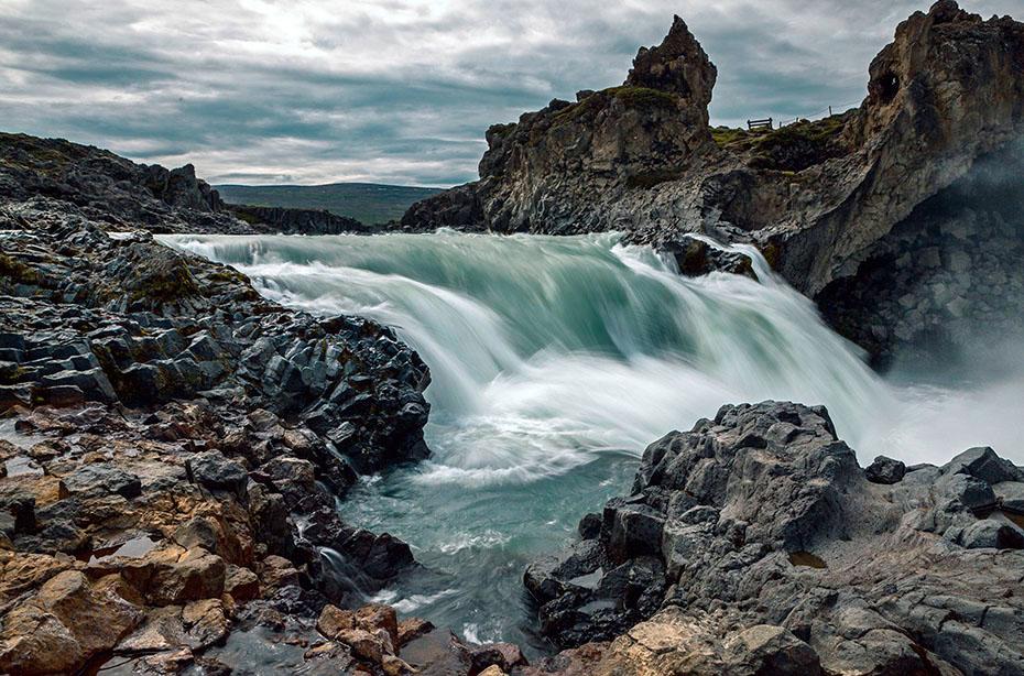 Der Geitafoss unterhalb des Goðafoss