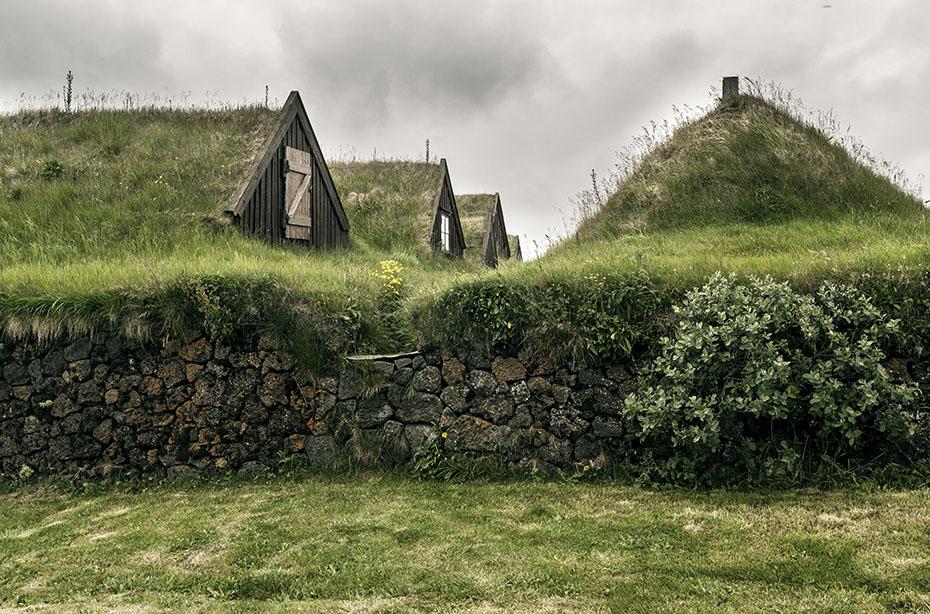 Grassodenbauweise im Museum Grenjaðarstaður