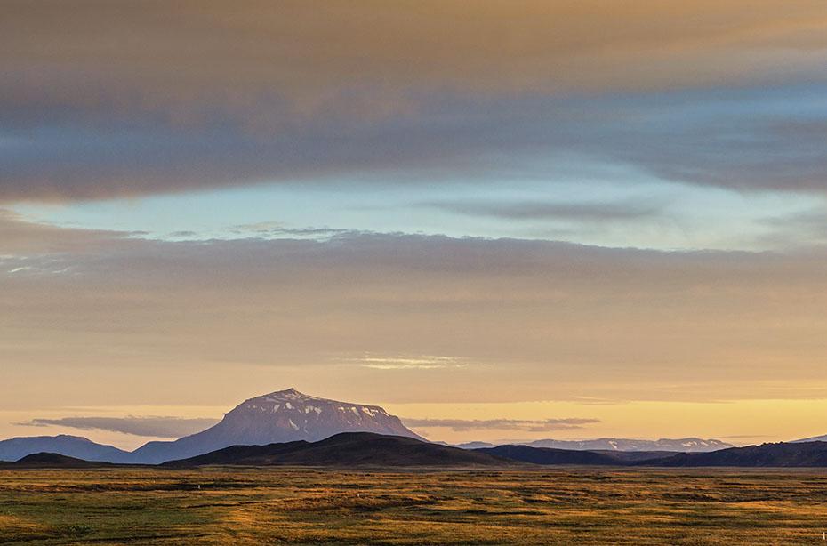 Herðubreið von Möðrudalur aus