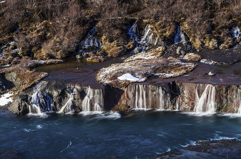Island Exkursion im Herbst: Hraunfossar