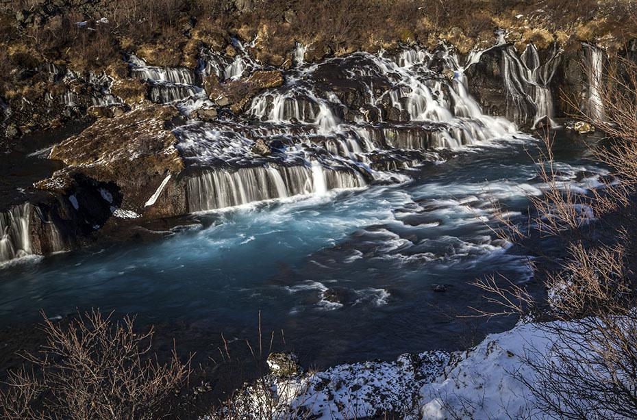Island Islandreisen Hraunfossar