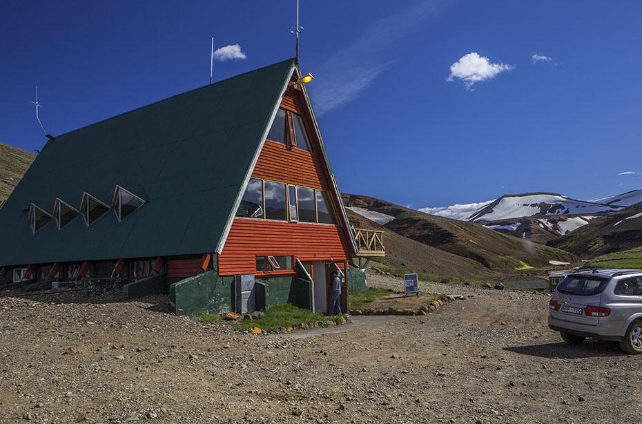 Berghütte und Cafeteria in den Kerlingarfjöll