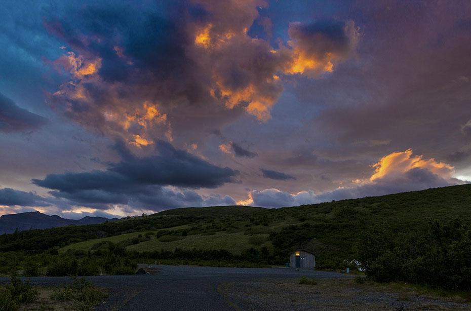 Sonnenuntergang in Skaftafell