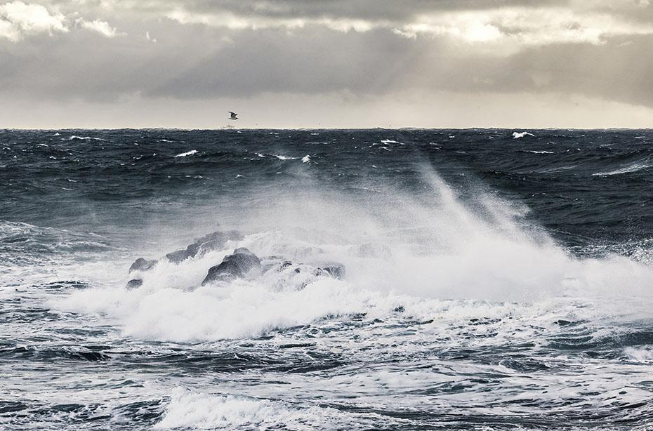 Wintersturm an der Südküste der Halbinsel Snæfellsnes