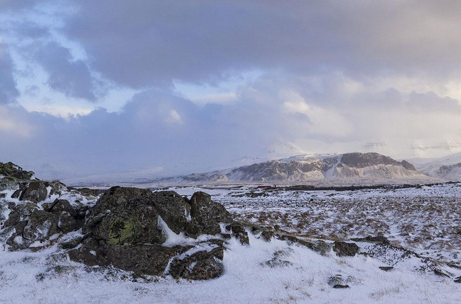 Winterlandschaft bei Borgarnes