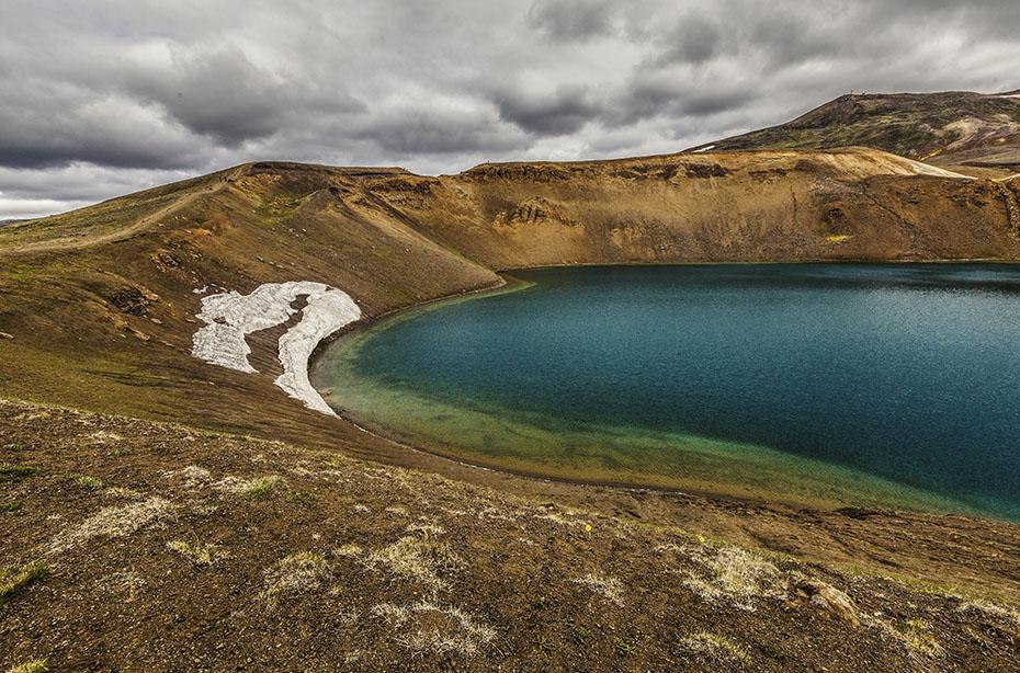 Der Krater Viti im Vulkansystem Krafla