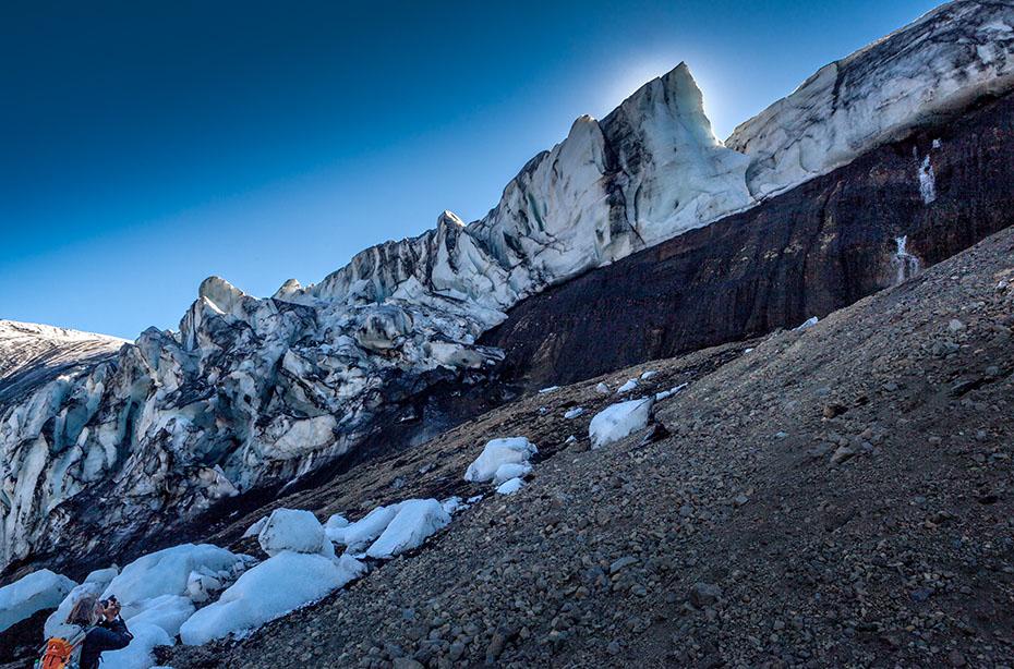Die Eiskante des Kverkfjöll-Gletschers