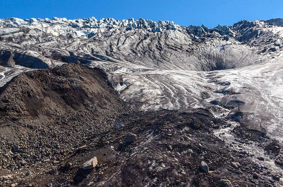 Kante des Kverkfjöll-Gletschers