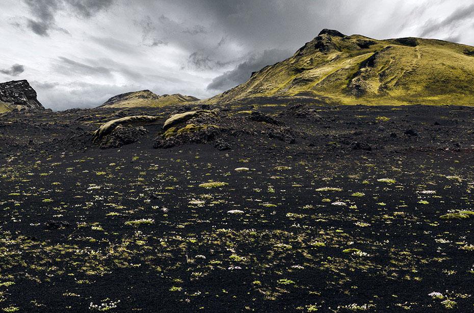 Ansicht der Laki-Krater