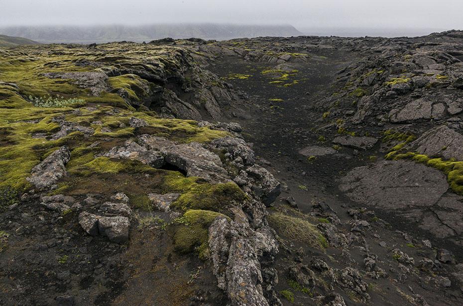Spalte bei den Laki-Kratern