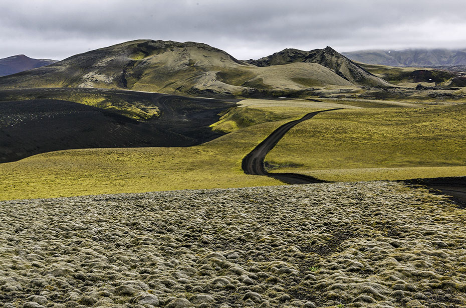 Hochlandpiste bei den Laki-Kratern
