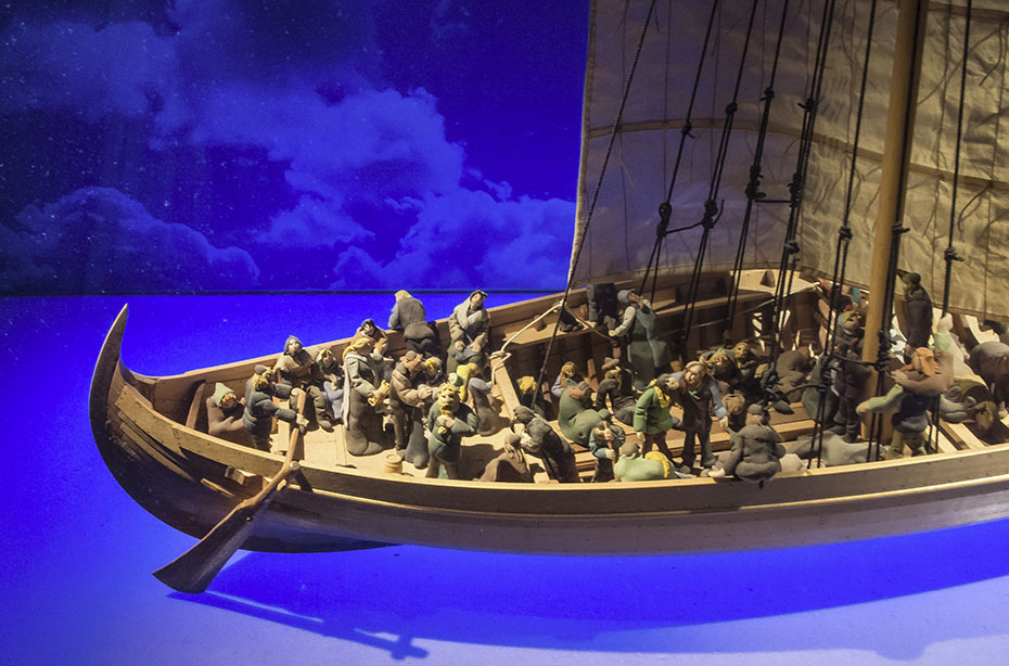 Modell eines Wikinger-Schiffes