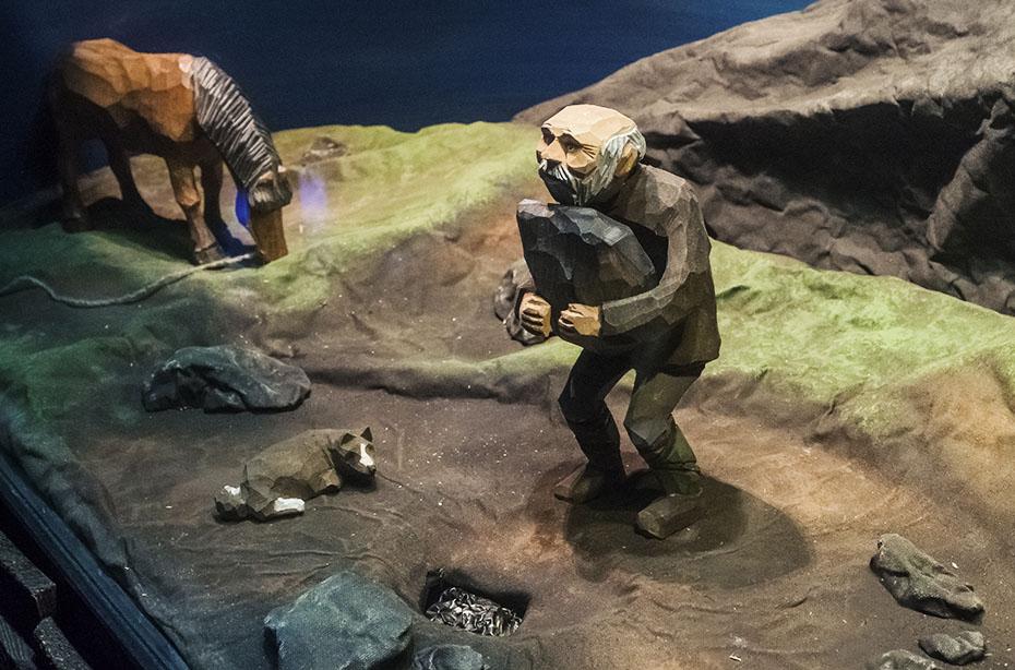 Diorama zur Geschichte Islands