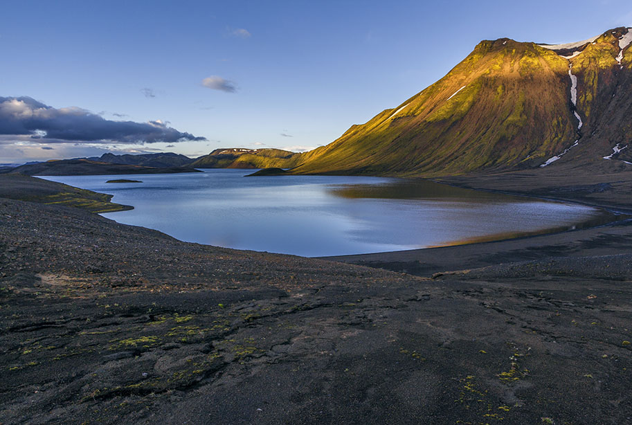 Der See Langisjór im Vatnajökull-Nationalpark