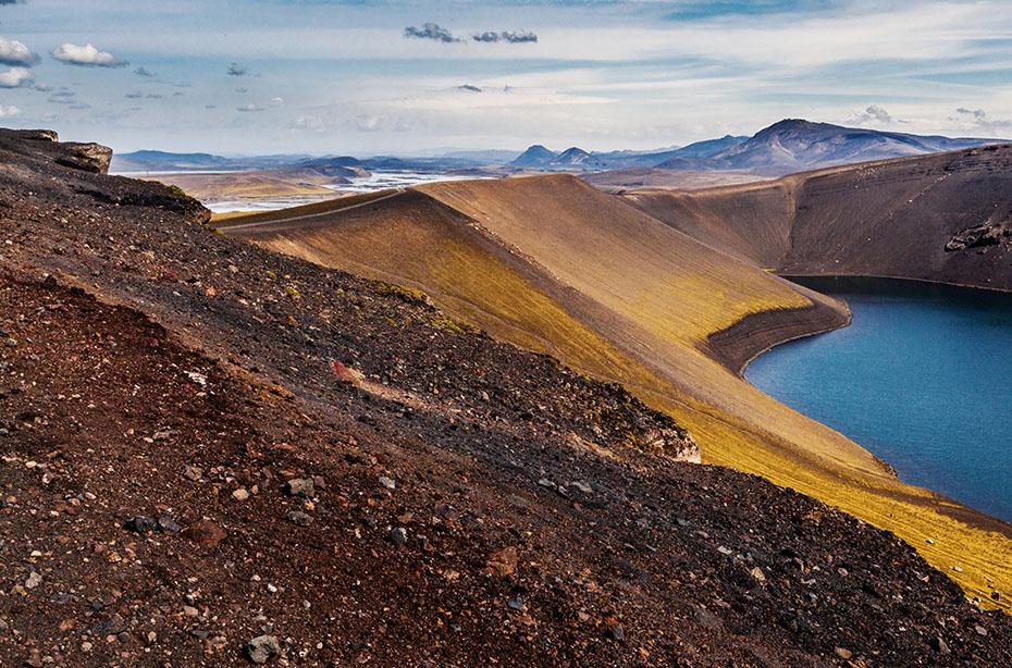 Super Jeep Hochland Tour: Vulkankrater Ljótipollur