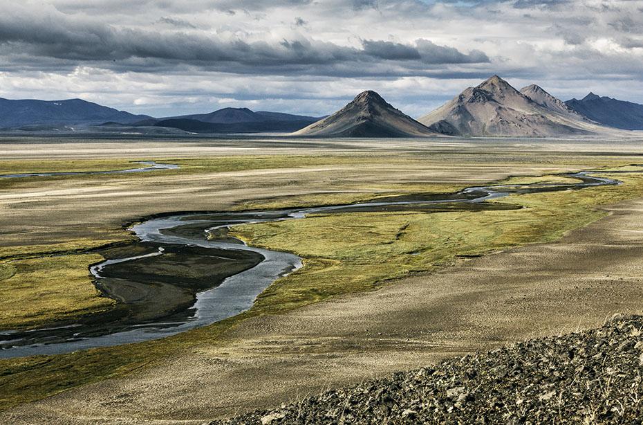 Die Landschaft Möðrudalsöræfi bei Möðrudalur