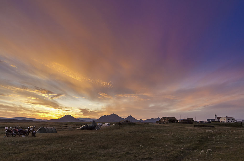 Sonnenuntergang über Möðrudalur