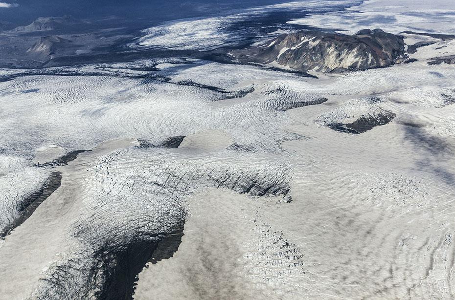 Der Mýrdalsjökull aus der Luft