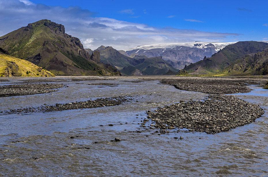 Der Gletscher Mýrdalsjökull