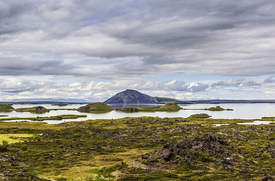 Island-Reisen Ansicht des Mývatn