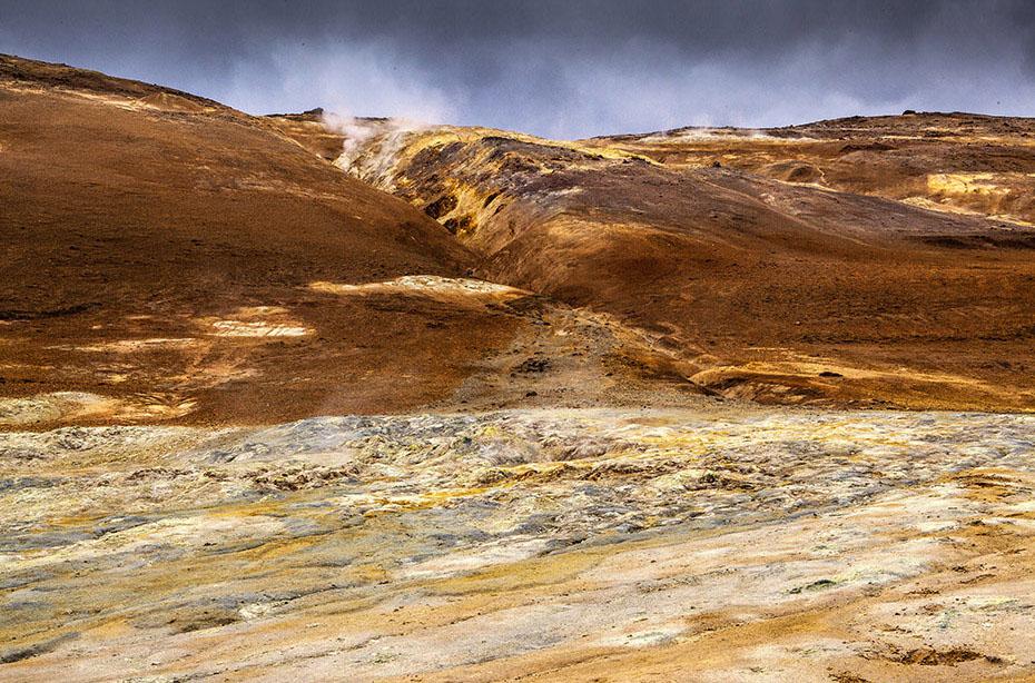 Blick auf den Námafjall über Hverarönð