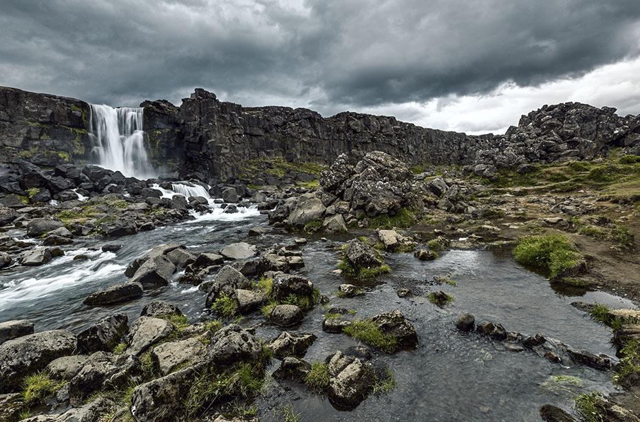 Der Wasserfall Öxararfoss