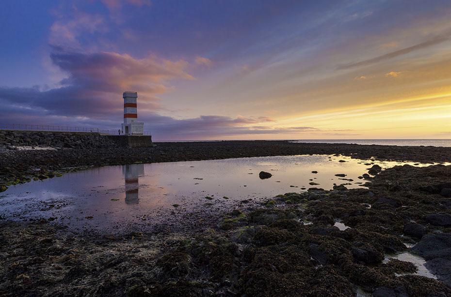 Leuchtturm von Garður auf Reykjanes